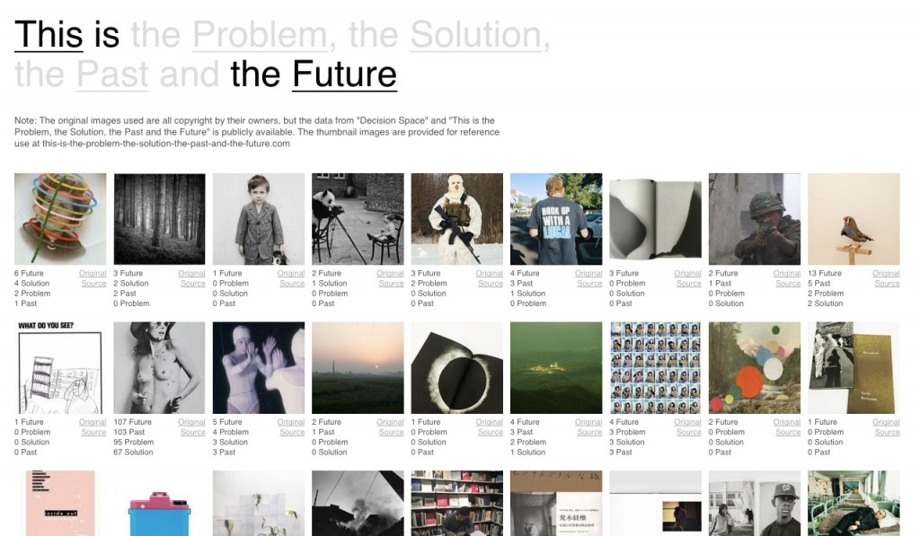 Sebastian Schmieg, This is the Problem, the Solution, the Past and the Future